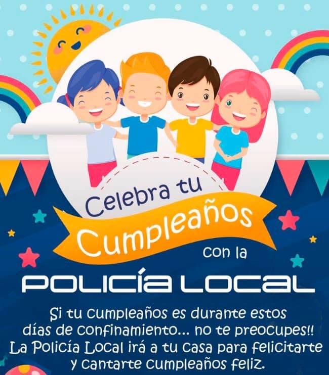 Policía Local servicio cumpleaños