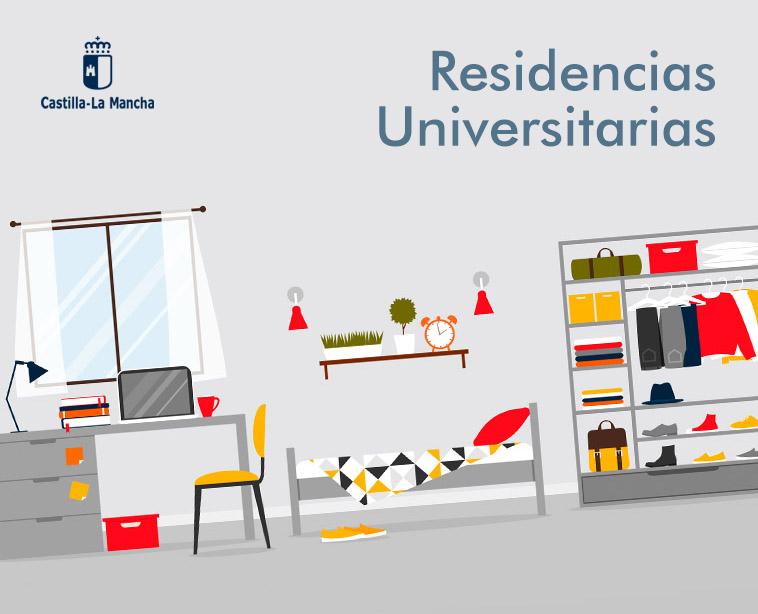 Plazas Residencias Universitarias en CLM