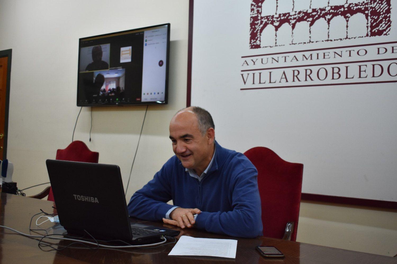 Valentín Bueno en videoconferencia con alumnos del colegio Barranco Cafetero