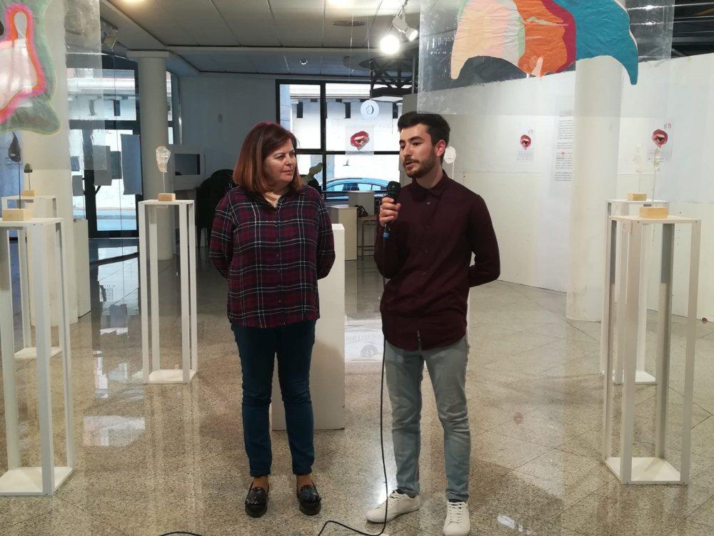 Trinidada Moyano inugura exposición rubén almansa