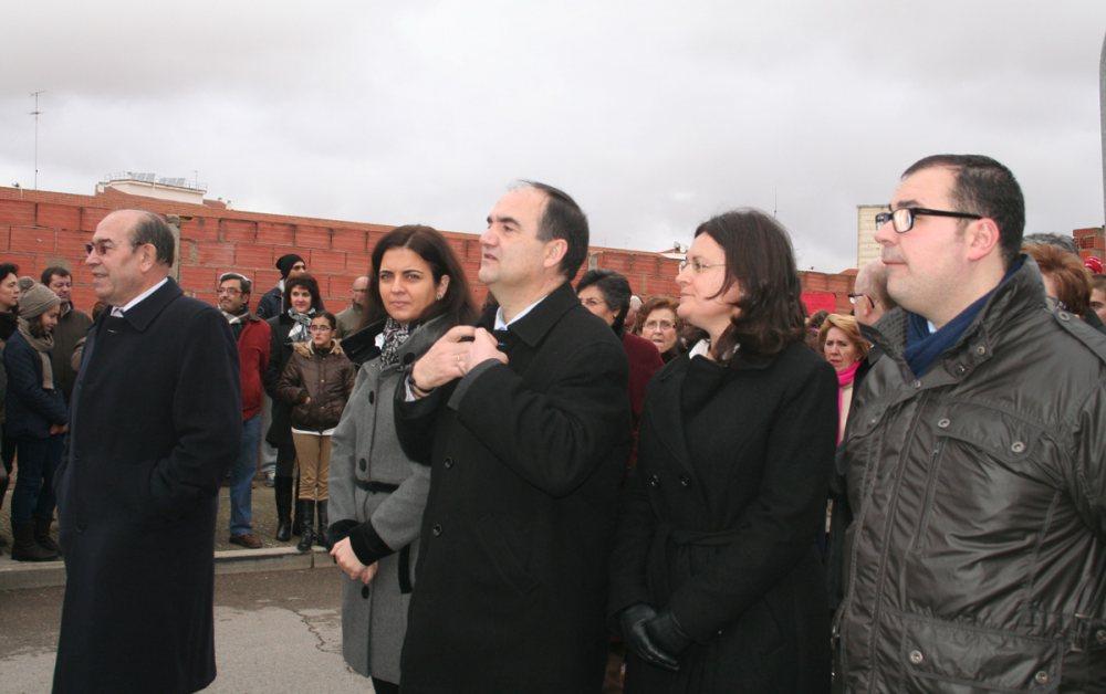 Procesión de San Antón: de izquierda a derecha, Manuel Laguía, Belén Torres, Valentín Bueno, Amalia Gutiérrez y Bernardo Ortega.