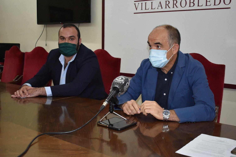 Valentín Bueno, Alcalde de Villarrobledo y José Luis Zapata, concejal de medioambiente