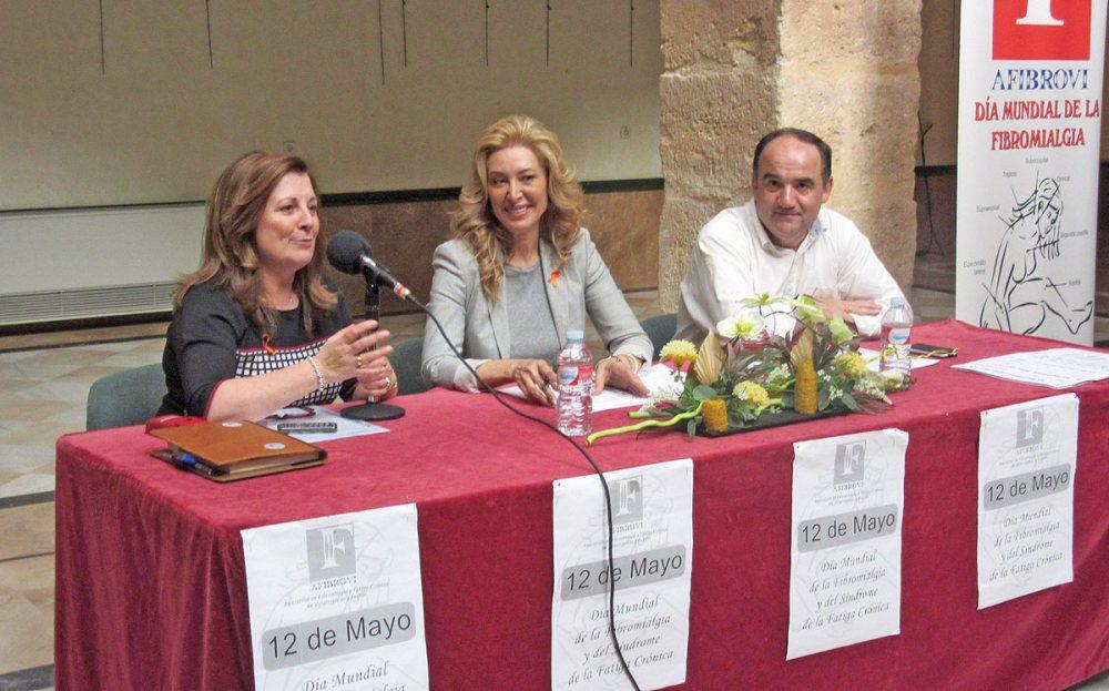 Eugenia Ramírez, Teresa Viejo y Valentín Bueno.