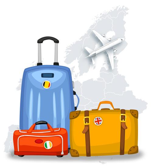 Imagen con varias maletas